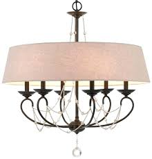 chandelier with crystals burlap white drum mini clip on archived lighting post shades and