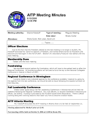 Example Of Meeting Minutes Template Sample meeting note minutes template professional representation 1