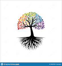 Tree Of Life Graphic Design Abstract Colorful Tree Logo Design Root Vector Tree Of