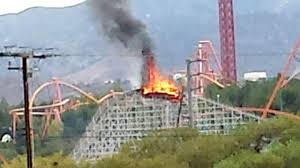 Image result for roller coaster crash burn