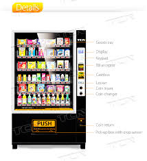 Vending Machine Coin Return Mesmerizing China Drink And Snacks Vending Machine By Bill And Coin Operated