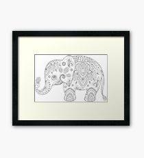 silver gray glitter floral paisley elephant framed print on paisley print wall art with paisley elephant wall art redbubble