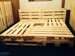 king size pallet bed diy pallet bed frame king size recycled home design 18 plans mamak