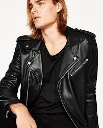 image 3 of leather biker jacket from zara tfgjwfv