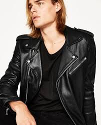 image 3 of leather biker jacket from zara tfgjwfv