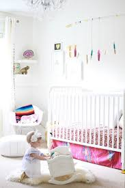nursery with white furniture. project nursery whimsical white with pops of color furniture