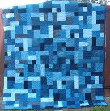 denimybr3.jpg (576Ã?582) good idea for single color/ombre quilt ... & Easy Blue Jean Quilt Pattern - for Peter? Adamdwight.com