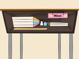 clean student desk clipart