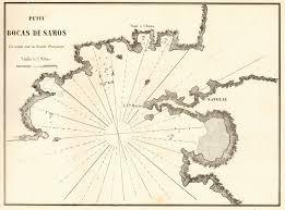 Samos Petit Bocas De Samos Greece Turkey Mycale Strait Gauttier 1854 Map