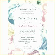 43 Free Invitation Templates For Naming Ceremony