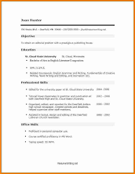 student resume no experience 7 example of a student resume with no experience penn working papers