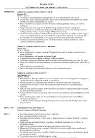 Medical Laboratory Scientist Resume Samples Velvet Jobs