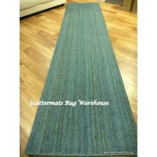 seagrass jute woven turquoise floor 3m hall runner