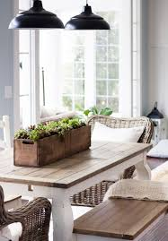 Dining Room: Farmhouse Dining Area With Indoor Plants - Farmhouse Dining  Room