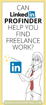 linkedin profinder for lancers will it help you clients  can linkedin profinder help you lance work makealivingwriting com
