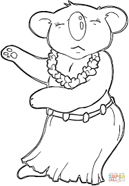 Hawaiian Koala coloring page | Free Printable Coloring Pages