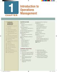 Process Design And Analysis In Operations Management Introduction To Operations Management Mcgraw