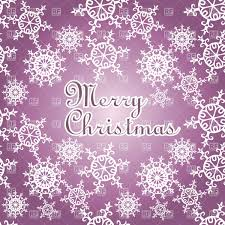 Purple Christmas Card Purple Christmas Card With Snowflakes Pattern Stock Vector Image