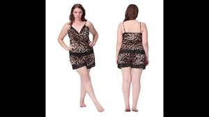 plus size short sets lilysilk womens sexy leopard silk pajamas camisole and short set