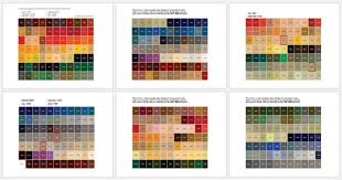 Paint Colour Chart Pdf General Color Chart 5 Plus Printable Charts For Word And Pdf