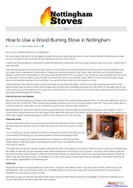 Lighting A Wood Stove For The First Time How To Use A Wood Burning Stove In Nottingham By Quality