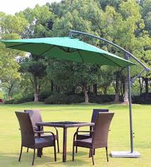 outdoor luxury furniture. Contemporary Luxury Luxury Side Pole Patio Umbrella In Green Colour By Adapt Affairs Inside Outdoor Furniture