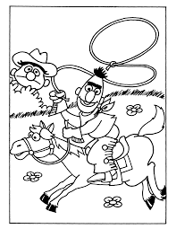 Kleurplaat Cowboys En Indianen Malvorlage Reiten Ausmalbild 9652