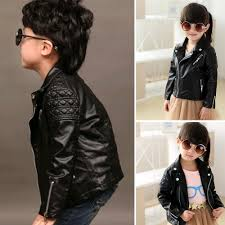 moonar spring kids jacket pu leather jackets children outwear for baby girls boys coats pink intl