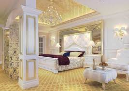 Gold and white bedroom ideas with beautiful bedroom chandeliers ...