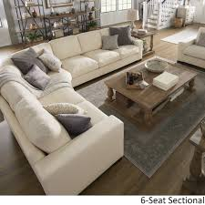 Lionel White Cotton Fabric Down-Filled L-Shaped Sectional by iNSPIRE Q  Artisan - Free Shipping Today - Overstock.com - 24264123