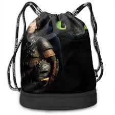 How To Design Your Backpack Amazon Com How To T Rain Your Dragon Toothless Gym Bag