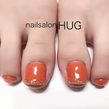 秋オールシーズンデート女子会フット Nailhugのネイルデザインno
