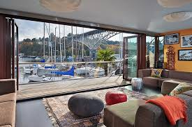 Small Picture Neat and Modern Houseboat House Displaying a Unique Interior by