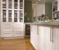 off white shaker cabinets in a contemporary kitchen