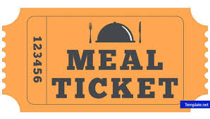 Free Meal Ticket Template Beauteous 48 Meal Ticket Designs Templates PSD AI Word PDF Free