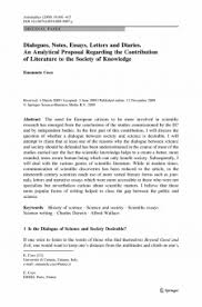 rutgers essay dialogues notes essays letters and diaries an analytical proposal