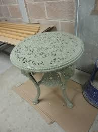 restoration of an antique cast iron garden table