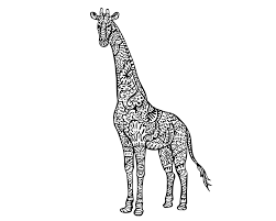 Ten Adult Coloring Pictures For People Who Love April The Giraffe
