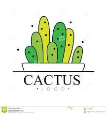Free Cactus Logo Design Cactus Logo Design Green Badge With Plants Vector