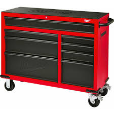 Craftsman 6 Drawer Rolling Cabinet Milwaukee 46 In 16 Drawer Tool Chest And Rolling Cabinet Set Red