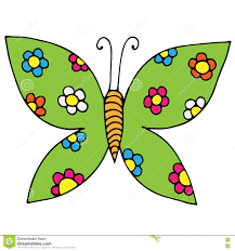 Butterfly With Flower For Tattoo Coloring Book Stock Vector