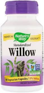 Nature's Way <b>Willow</b>, <b>Standardized</b> , 60 Vegetarian Capsules Price ...