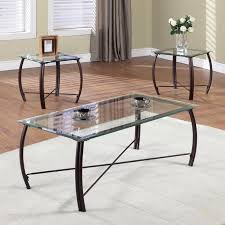 endearing glass table sets for living room and coaster furniture glass top 3 piece matrix coffee
