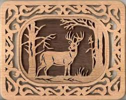 Free Scroll Saw Patterns Magnificent Free MSN Scroll Saw Patterns SLD48 SelfFraming Deer Plaque