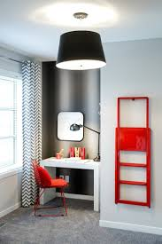 contemporary home office design. 20 Colorful Ways To Enliven Your Gray Home Office Contemporary Design