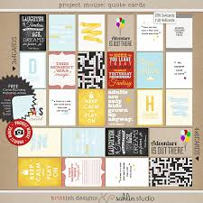 Quote Cards Fascinating Project Mouse Quote Cards By Brittish Designs And Sahlin Studio