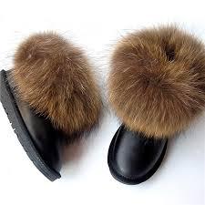 <b>G&Zaco Luxury</b> Big <b>Natural Real</b> Winter Fox Fur Gneuine <b>Leather</b> ...