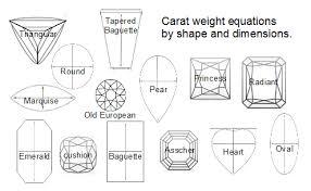 Baguette Diamond Size And Weight Chart Diamond Baguette