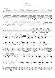 Sucker Jonas Brothers Drum Sheet Sheet Music For