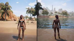 Conan Exiles Survival MMO eifert mit Nude Option Rust nach.